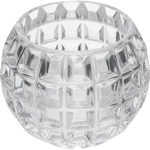 Vaso Redondo de Crystal Medium Rose Wolff Transparente - Rojemac