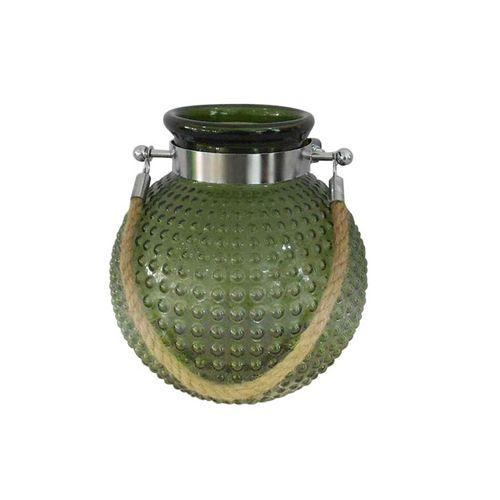 Vaso Verde com Alça Candeias 25,5cm