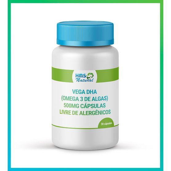 Vega Dha (omega 3 de Algas) 500mg Cápsulas Livre de Alergênicos 30 Cápsulas