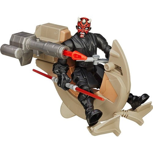 Veiculo Speeder Hero Mashers Star Wars EPVII - Sith Speeder & Darth Maul