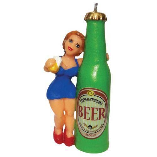 Vela Bonitona Beer Velarte C/ Pavio Mágico