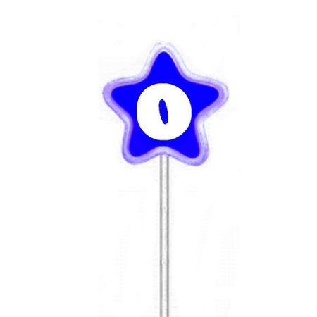 Vela de Aniversário Estrela Azul Velarte Vela de Aniversário Estrela Azul Nº 0 Velarte