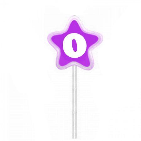 Vela de Aniversário Estrela Lilás Velarte Vela de Aniversário Estrela Lilás Nº 0 Velarte