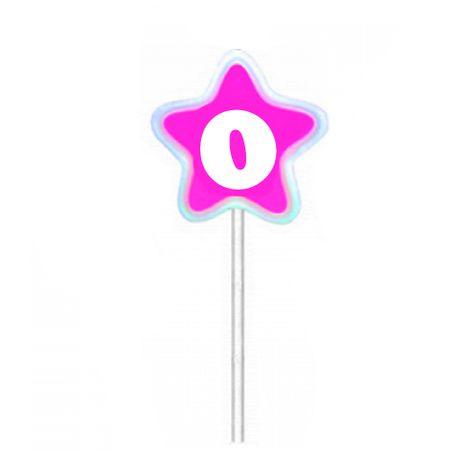 Vela de Aniversário Estrela Rosa Velarte Vela de Aniversário Estrela Rosa Nº 0 Velarte
