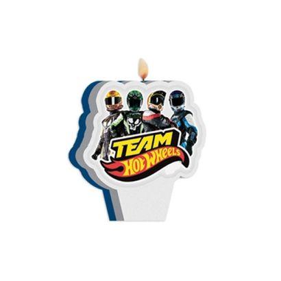 Vela de Aniversário Hot Wheels Team Regina