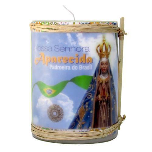 Vela Decorativa Nossa Senhora Aparecida Pequena