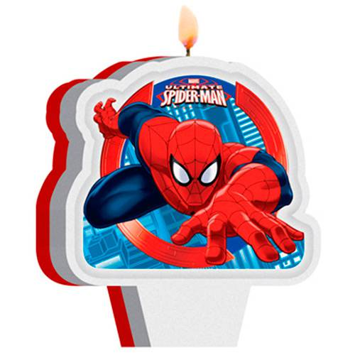Vela Plana Regina Festas Ultimate Spider Man 1 Unidade