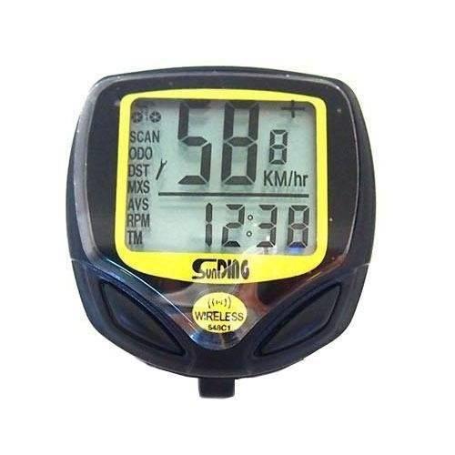 Velocimetro Sem Fio a Prova D'agua Wireless Bike Relogio Km