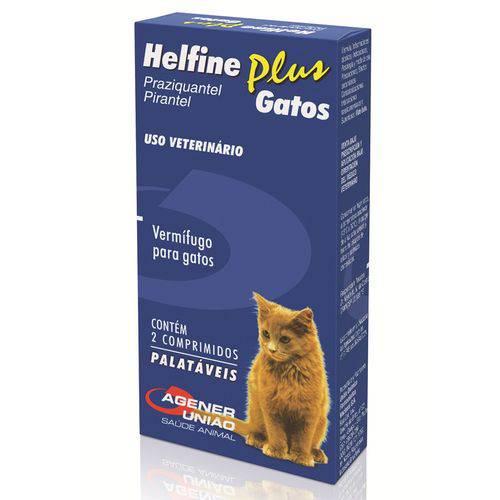 Vermífugo Helfine Plus Agener União para Gatos 2 Comprimidos