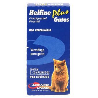 Vermífugo Helfine Plus Gatos Agener C/ 2 Comprimidos