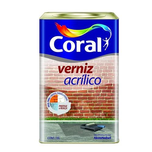 Verniz Acrílico Incolor 18L - Coral - Coral