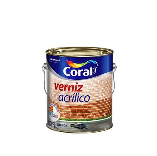 Verniz Acrílico Incolor 3,6L - Coral - Coral