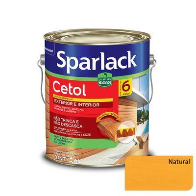 Verniz Sparlack Cetol Brilhante à Base D'Água - Natural - 3,6 Litros