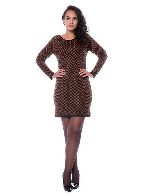 Vestido Abertura Lateral Tricot Preto