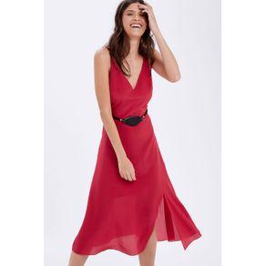 Vestido Alça C/ Cinto Pedra Rosa Cherry - 34