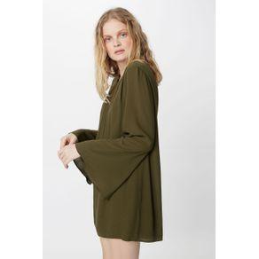 Vestido Alça Laços Verde Militar - 40