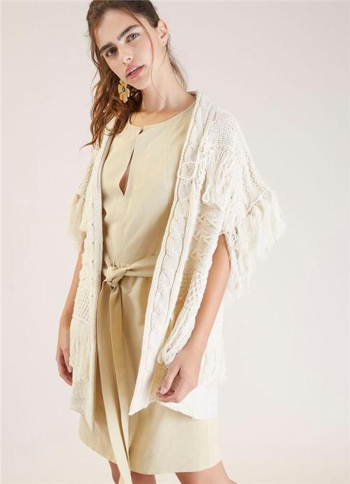 Vestido Amarração Linho Viscose Areia G