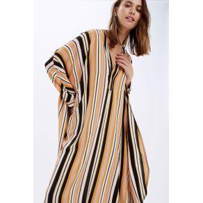 Vestido Amplo Listras Est Listra Vertical Clubbege - P