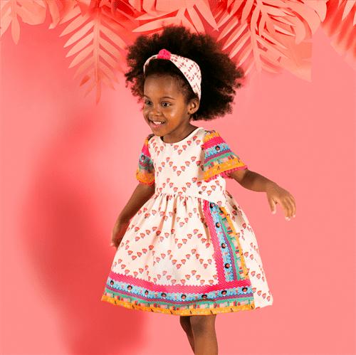 Vestido Angola Bege/3 e 4