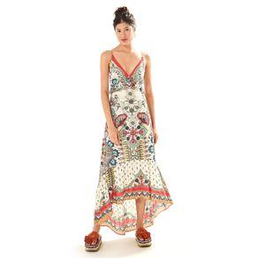 Vestido Babadinho Mexicana Est Mexicana_Off White - M