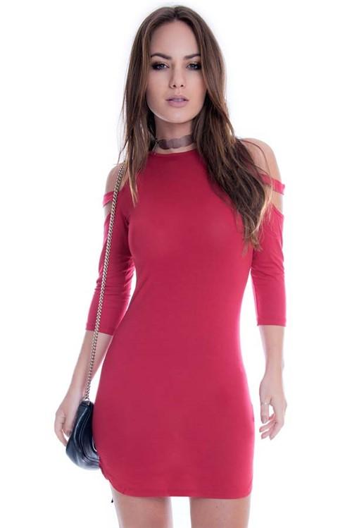 Vestido Básico com Recortes VE1422 - P