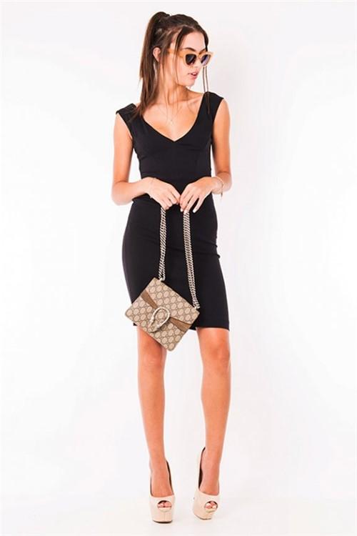 Vestido Básico Decote V VE1509 - Kam Bess