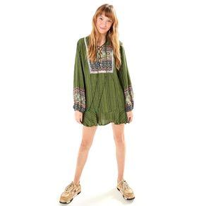 Vestido Bata Borogodó Est Borogodo_Verde Alcaparra - PP