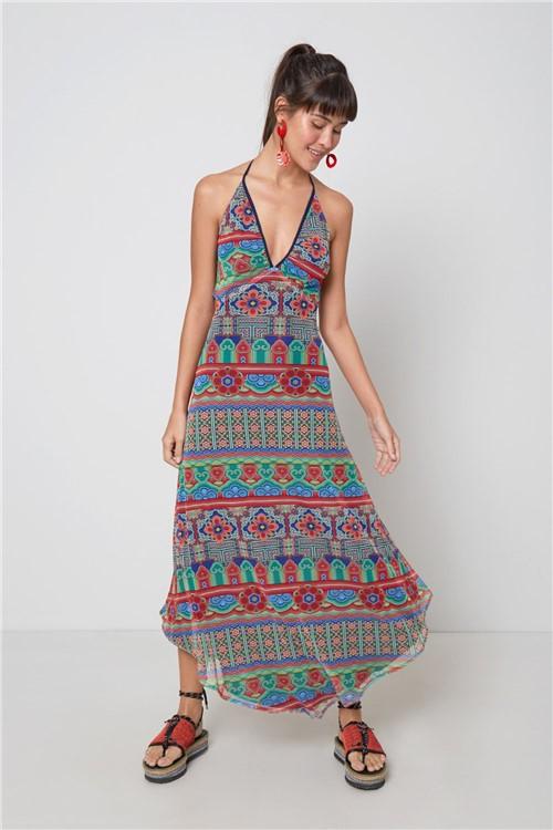Vestido Bico Est Oriente Est Oriente Vermelho - PP