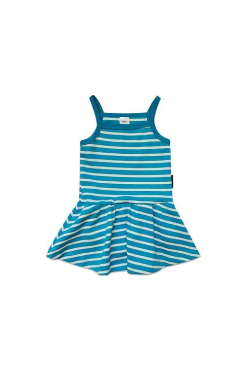 Vestido Body Alcinha Listra G - Azul Turquesa