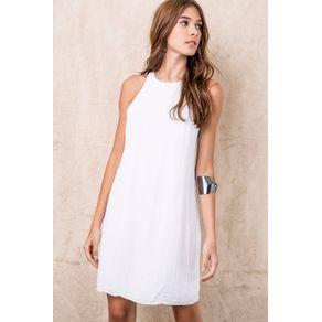 Vestido Camisetão Bordado Vidrilho Branco - 34