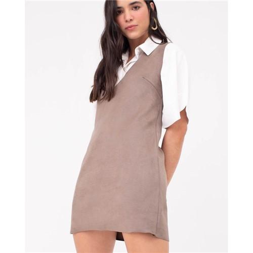 Vestido Camurça Marrom PP