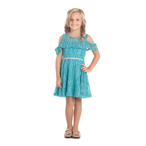 Vestido Cata-Vento Infantil La Renda Azul 04