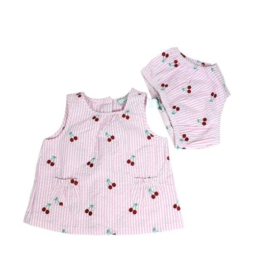 Vestido Childrens Wear Cerejas Rosa