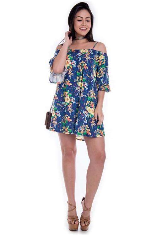 Vestido Ciganinha com Estampa Floral VE1643 - Kam Bess