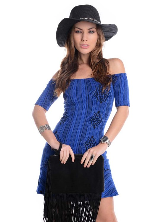 Vestido Ciganinha Estampado VE1185 - M