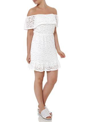 Vestido Ciganinha Feminino Autentique Off White