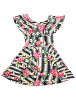 Vestido Ciganinha Juvenil para Menina - Preto