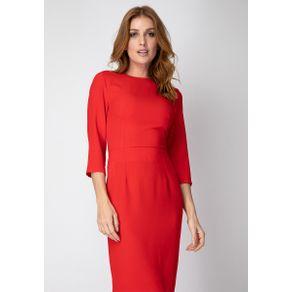 Vestido com Amarração Vermelho G