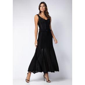 Vestido com Cinto Preto G