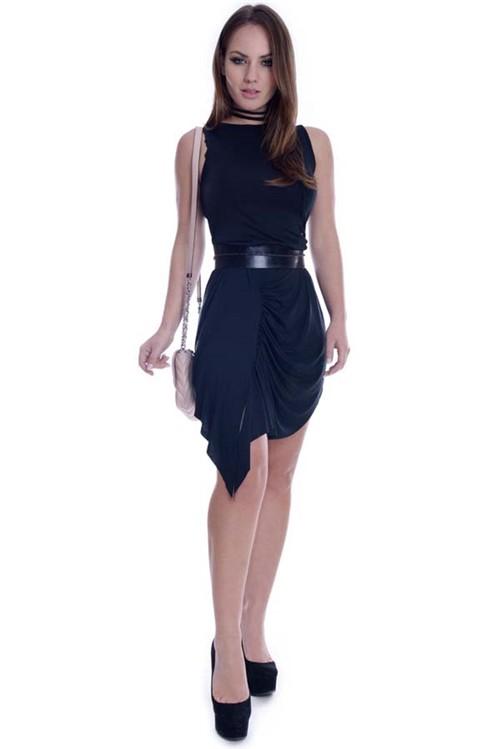 Vestido com Detalhe Franzido VE1525 - G