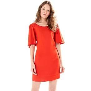 Vestido Costas Cruzadas Vermelho Hibisco - M