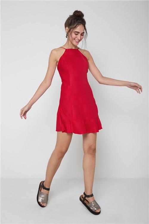 Vestido Curto Decote Costas Vermelho - G