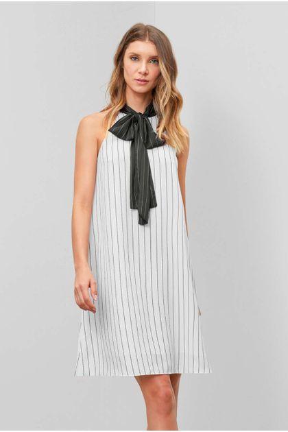 Vestido Curto Enna Amplo Xinran - Off White