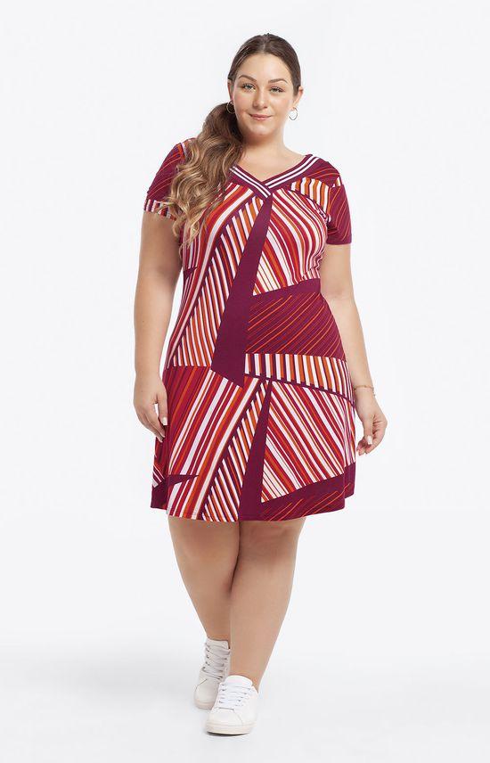 Vestido Curto Estampado Vermelho - GG