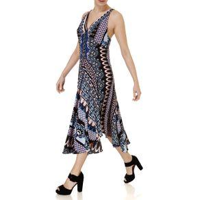 Vestido Curto Feminino Autentique Azul/rosa M
