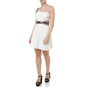 Vestido Curto Feminino Autentique Off White M