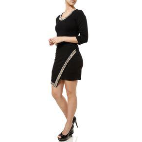 Vestido Curto Feminino Autentique Preto M