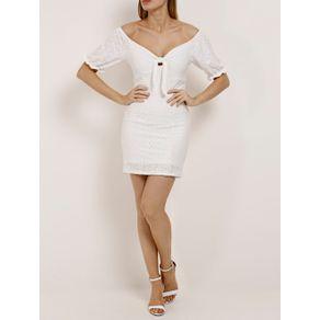 Vestido Curto Feminino Branco M