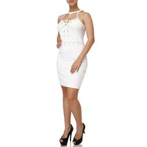 Vestido Curto Feminino Branco P