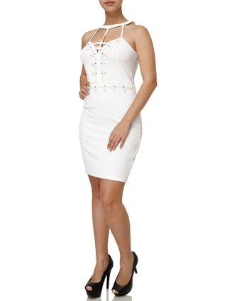 Vestido Curto Feminino Branco